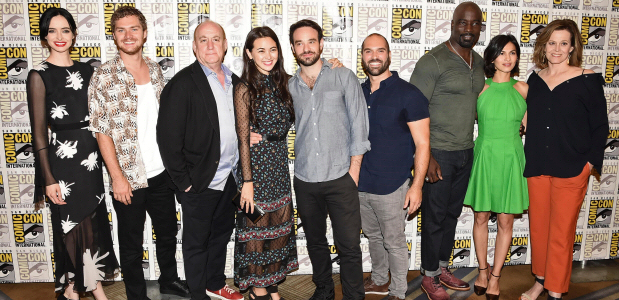sdcc quotthe defendersquot cast previews crossover series omfgtv